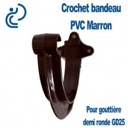 CROCHET BANDEAU PVC MARRON POUR GOUTTIERE GD25