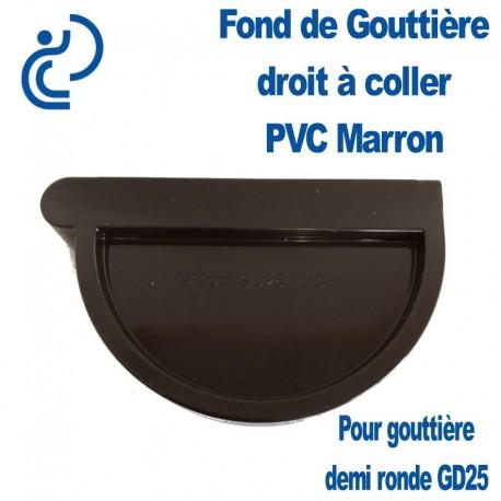 marron Jonction /à coller PVC 25 demi-ronde Goutti/ère PVC 25 demi-ronde