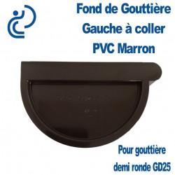FOND DE GOUTTIERE GAUCHE PVC MARRON