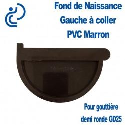FOND DE NAISSANCE GAUCHE EN PVC MARRON POUR GD25