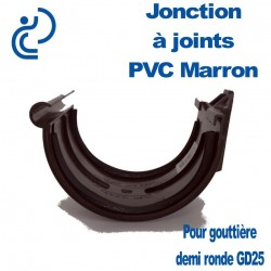 JONCTION PVC MARRON A JOINT POUR GOUTTIERE GD25