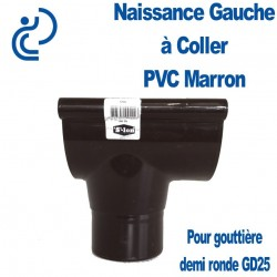 NAISSANCE GAUCHE A COLLER EN PVC MARRON