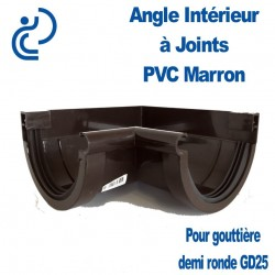 ANGLE INTERIEUR A JOINT MARRON
