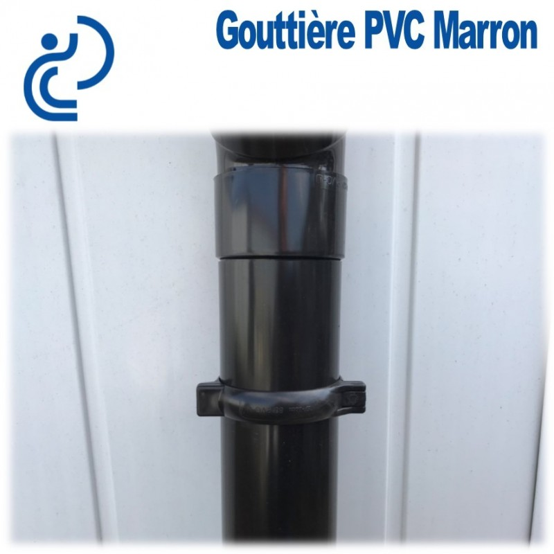 tube descente de goutti re d80 marron longueur de 1ml. Black Bedroom Furniture Sets. Home Design Ideas