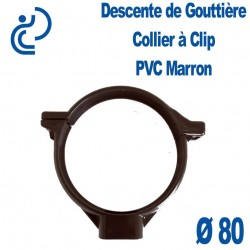 COLLIER DE GOUTTIERE PVC MARRON D80