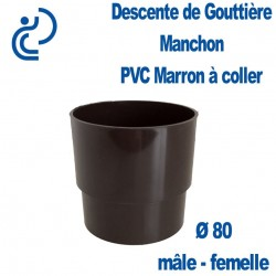 MANCHON GOUTTIERE PVC MARRON MF D80