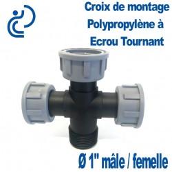 """Croix Polypro à écrou tournant 1"""" FFFM"""