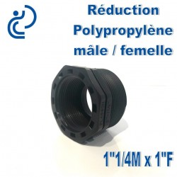 "Réduction Polypro 1""1/4 Mâle x 1"" Femelle"