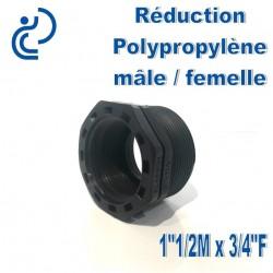 "Réduction Polypro 1""1/2 Mâle x 3/4"" Femelle"