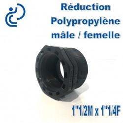"Réduction Polypro 1""1/2 Mâle x 1""1/4 Femelle"