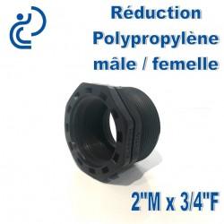 "Réduction Polypro 2"" Mâle x 3/4"" Femelle"