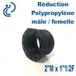 "Réduction Polypro 2"" Mâle x 1""1/2 Femelle"