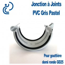 JONCTION DE GOUTTIERE PVC A JOINTS GRIS PASTEL