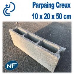 Parpaing Creux 10 x 20 x 50 cm NF Qualité Pro