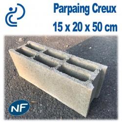 Parpaing Creux 15 x 20 x 50 cm NF Qualité Pro