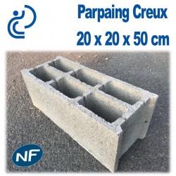 Parpaing Creux 20 x 20 x 50 cm NF Qualité Pro