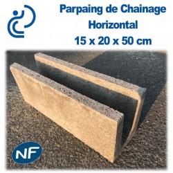 Parpaing de Chaînage Horizontal 15 x 20 x 50 cm NF Qualité Pro