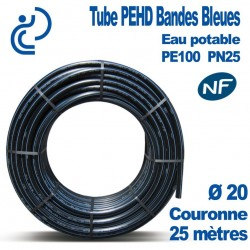 TUBE PEHD BB NF couronnes 25ml D20
