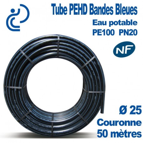 TUBE PEHD BB NF couronnes 50ml d25