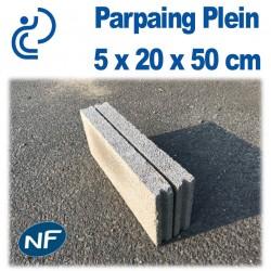 Parpaing Plein 5 x 20 x 50 cm NF Qualité Pro