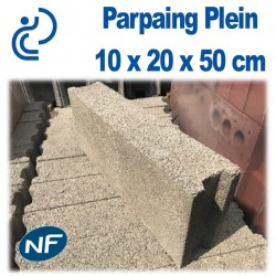 Parpaing Plein 10 x 20 x 50 cm NF Qualité Pro