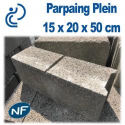 Parpaing Plein 15 x 20 x 50 cm NF Qualité Pro
