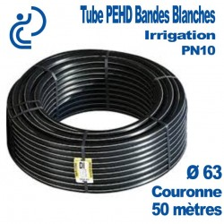 TUBE PEHD IRRIGATION d63 couronne 50ml pn10