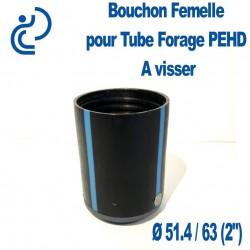 "Bouchon taraudé Femelle pour Tube forage PEHD Ø63 (2"")"