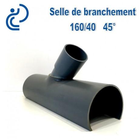 Selle de Branchement 160x40 à 45° PVC à coller