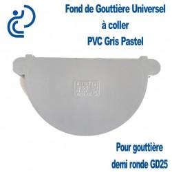 FOND DE GOUTTIERE UNIVERSEL EN PVC Gris Pastel
