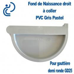 FOND DE NAISSANCE PVC Droit gris pastel