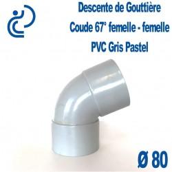 COUDE GOUTTIERE PVC gris pastel