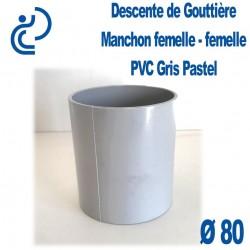 MANCHON GOUTTIERE PVC FF gris pastel