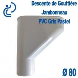 Jambonneau PVC gris pastel D80