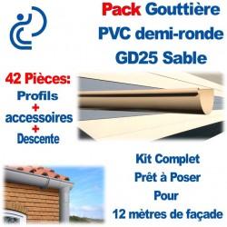 PACK GD25 SABLE POUR 12M DE FACADE (kit complet prêt à poser)