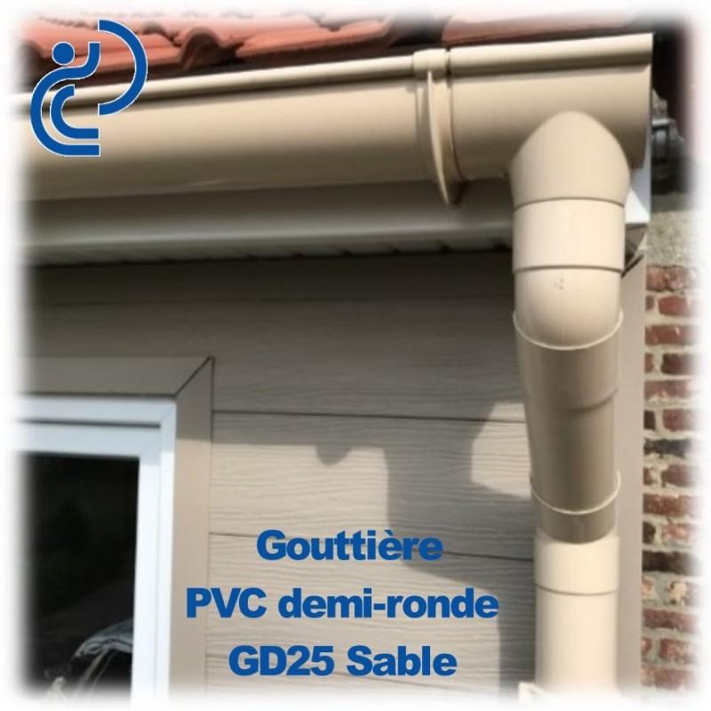 tube descente de goutti re d80 ton sable en longueur de 1ml. Black Bedroom Furniture Sets. Home Design Ideas