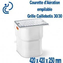 Courette d'Aération composite 420x420x250 Grille caillebotis maille 30/30