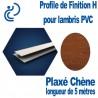 Profile de Finition H Plaxé Chène Pour lambris PVC longueur de 5ml