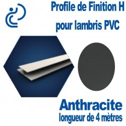 Profile de Finition H Anthracite Pour Lambris PVC