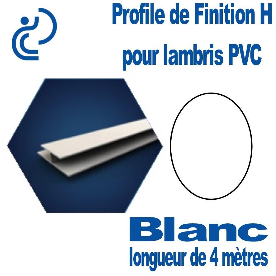 Extremement Profile de Finition H Blanc Pour Lambris PVC longueur de 4ml WN-56