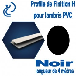 Profile de Finition H Noir Pour Lambris PVC