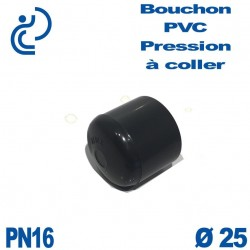 Bouchon Femelle PVC Pression D25 PN16 à coller