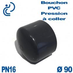Bouchon Femelle PVC Pression D90 PN16 à coller