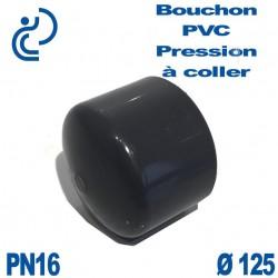 Bouchon Femelle PVC Pression D125 PN16 à coller
