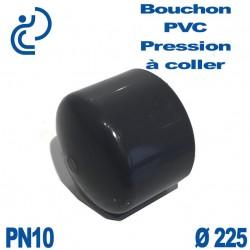 Bouchon Femelle PVC Pression D225 PN10 à coller
