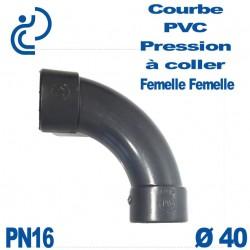 Courbe 90° PVC Pression D40 PN16 à coller