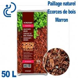 Écorces de paillage Bois Couleur Marron (brun) sac de 50 litres