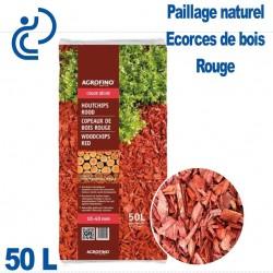 Écorces de paillage Bois Couleur Rouge sac de 50 litres