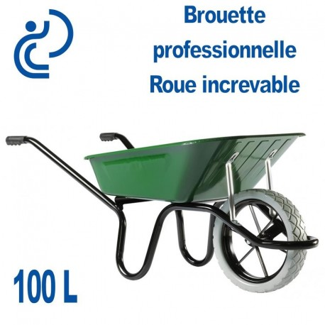 Brouette professionnelle roue increvable