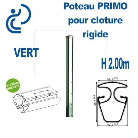 Poteau de Clôture Rigide Primo Vert Hauteur 2.00m
